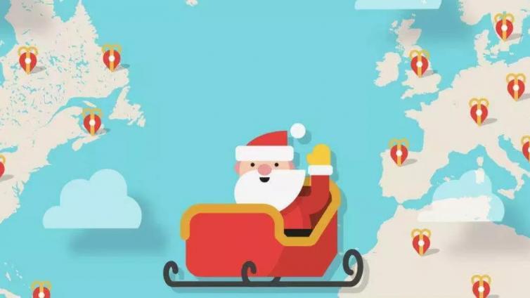 快打开地图,看看圣诞老人走到哪里了!