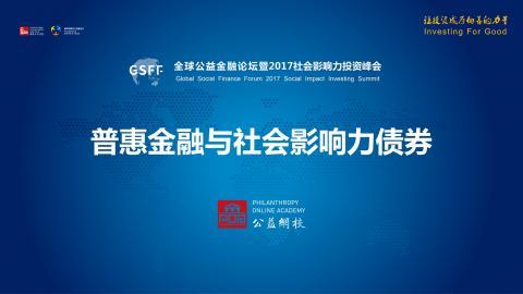 普惠金融与社会影响力债券