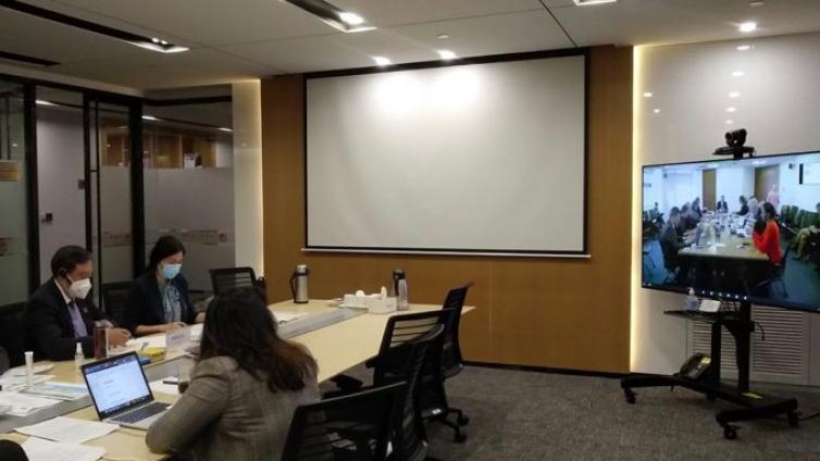 马蔚华远程出席联合国开发计划署可持续发展目标影响力指导委员会第二次会议