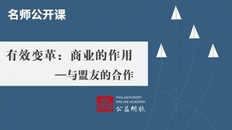 有效变革:商业的作用—与盟友的合作